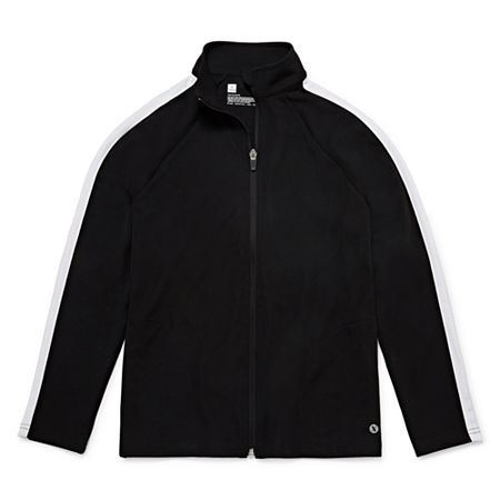 Xersion Little & Big Boys Lightweight Track Jacket, Xx-small (4-5) , Black