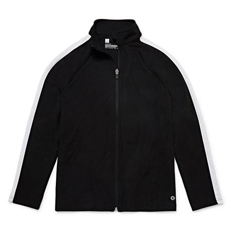 Xersion Little & Big Boys Lightweight Track Jacket, Large (14-16) , Black