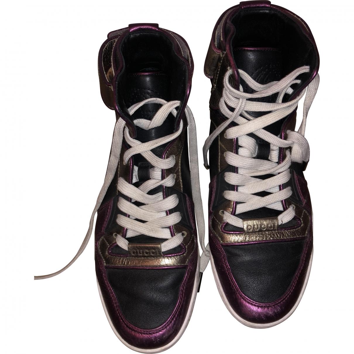 Gucci Gucci Dapper Dan Multicolour Leather Trainers for Women 37.5 EU