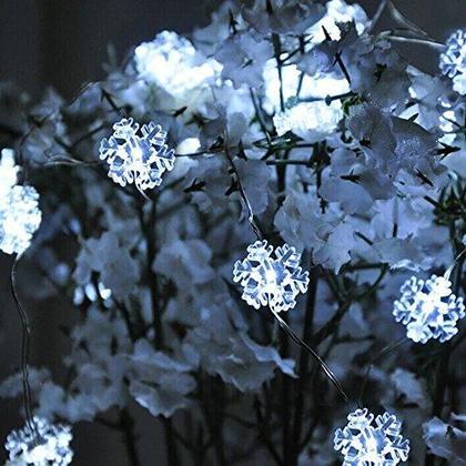 Deco L.B / O 14' 40 Guirlande Lumineuse LED-Flocons De Neige