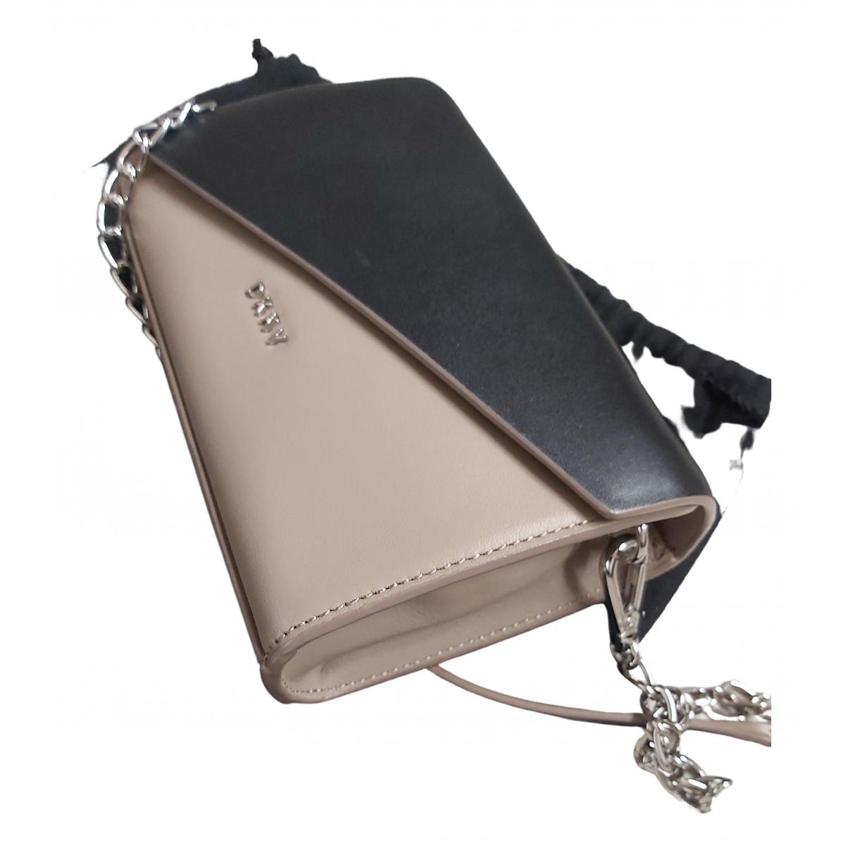 Dkny \N Handtasche in  Schwarz Leder