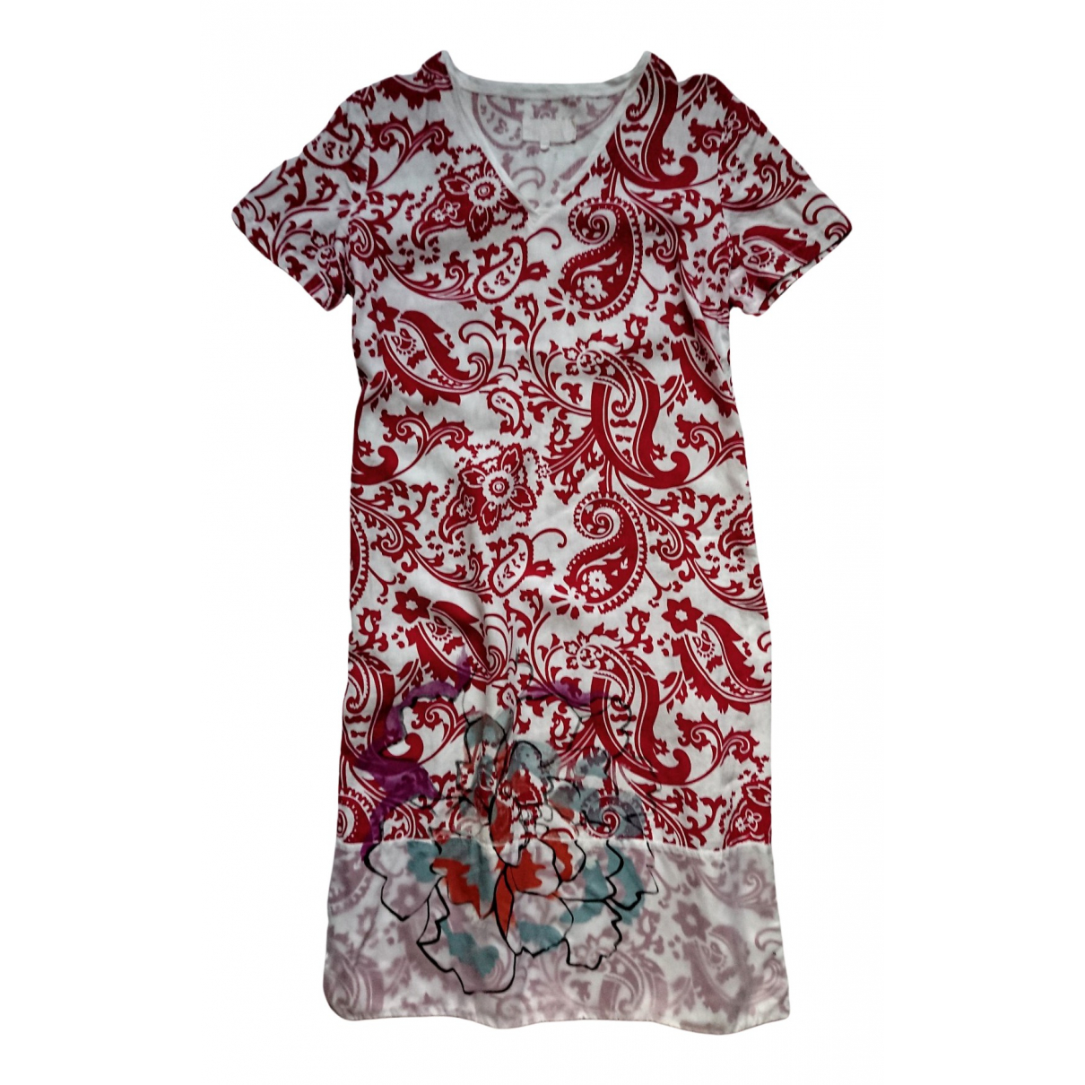 Etro \N Kleid in  Rot Leinen