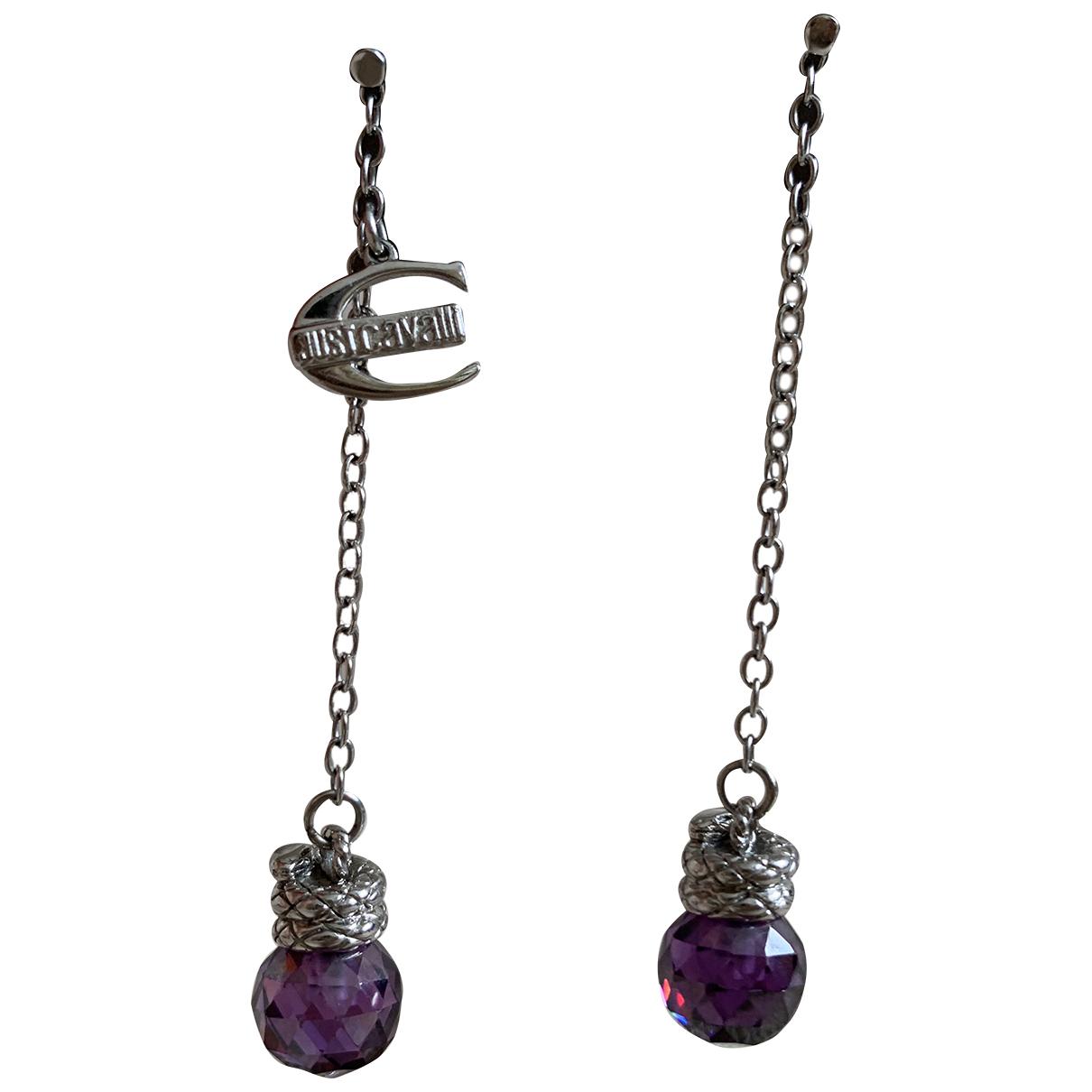 Just Cavalli N Purple Metal Earrings for Women N
