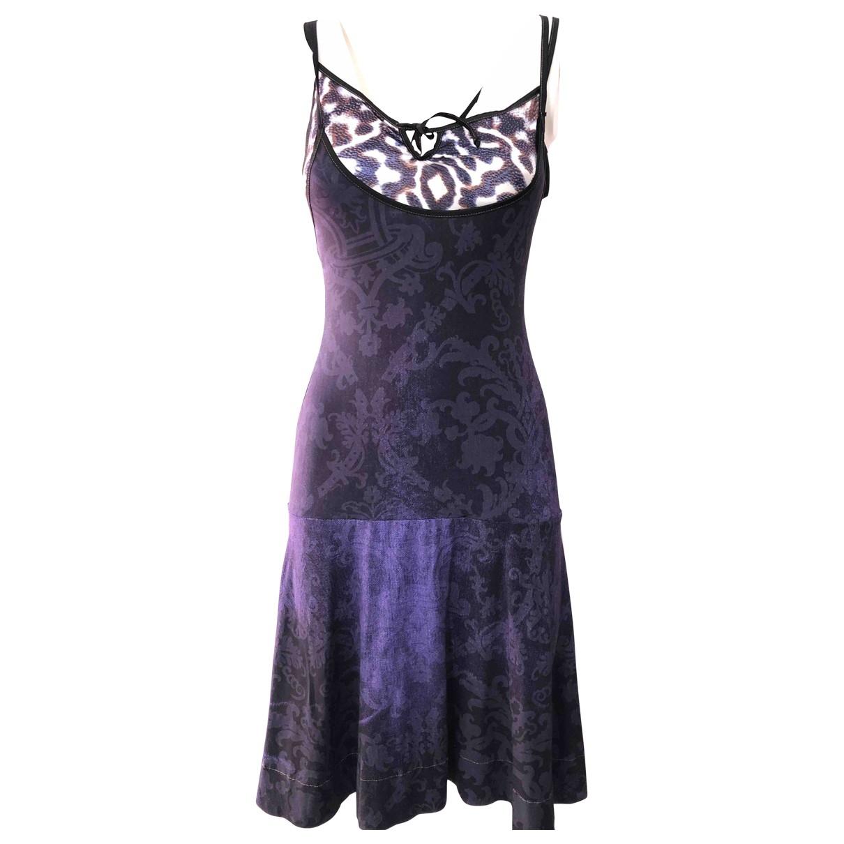 Just Cavalli \N Multicolour Cotton - elasthane dress for Women 40 IT