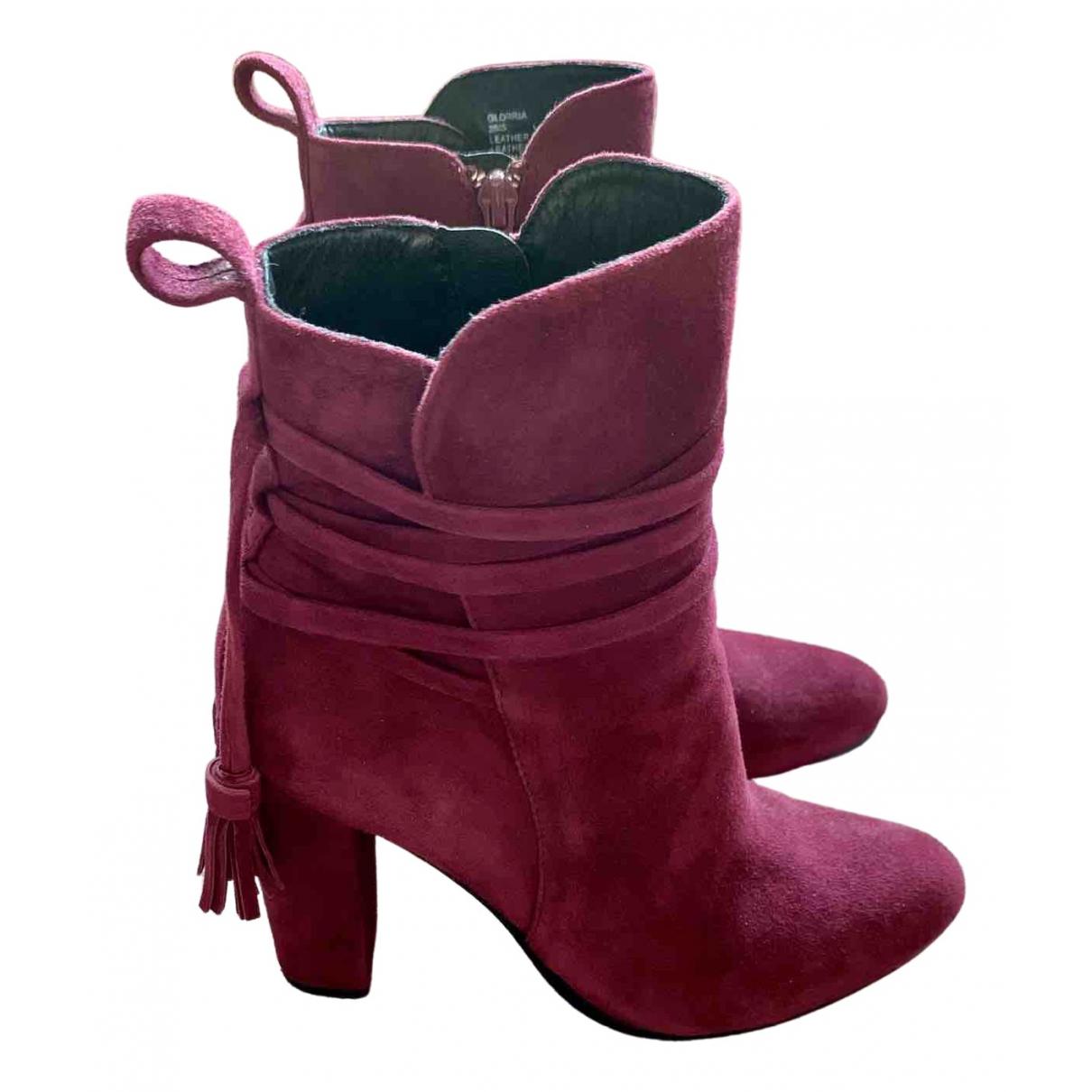 Steve Madden \N Burgundy Suede Boots for Women 38 EU