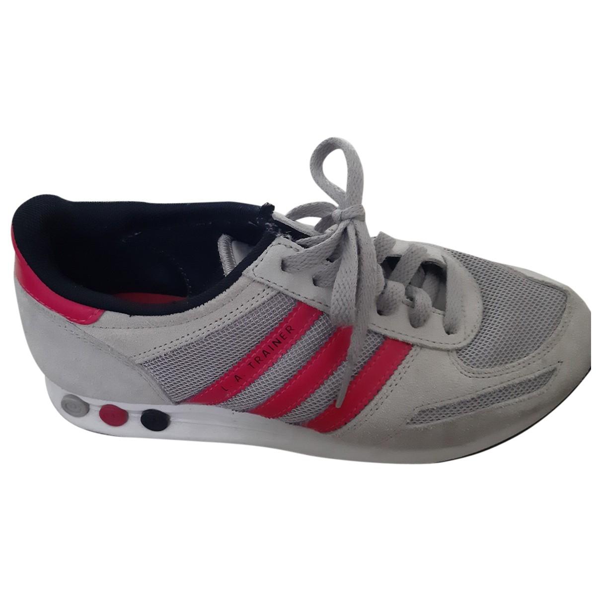 Adidas - Baskets   pour femme en cuir - gris