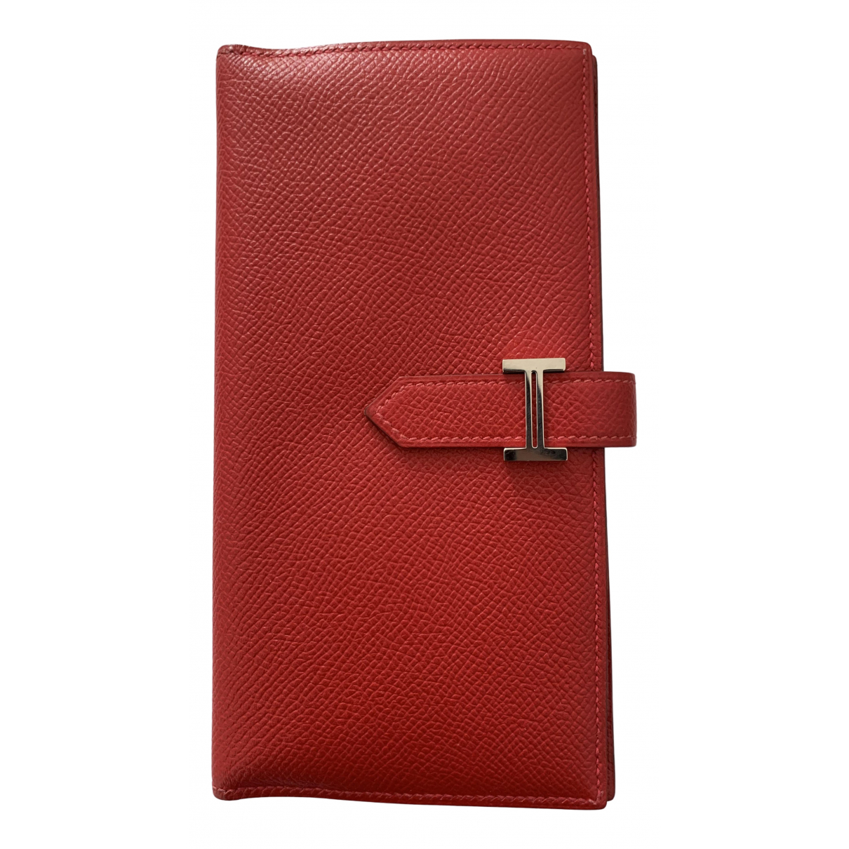 Hermès Béarn Red Leather wallet for Women \N