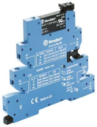 Finder 6 A SPNO Solid State Relay, DC, DIN Rail, 24 V dc Maximum Load