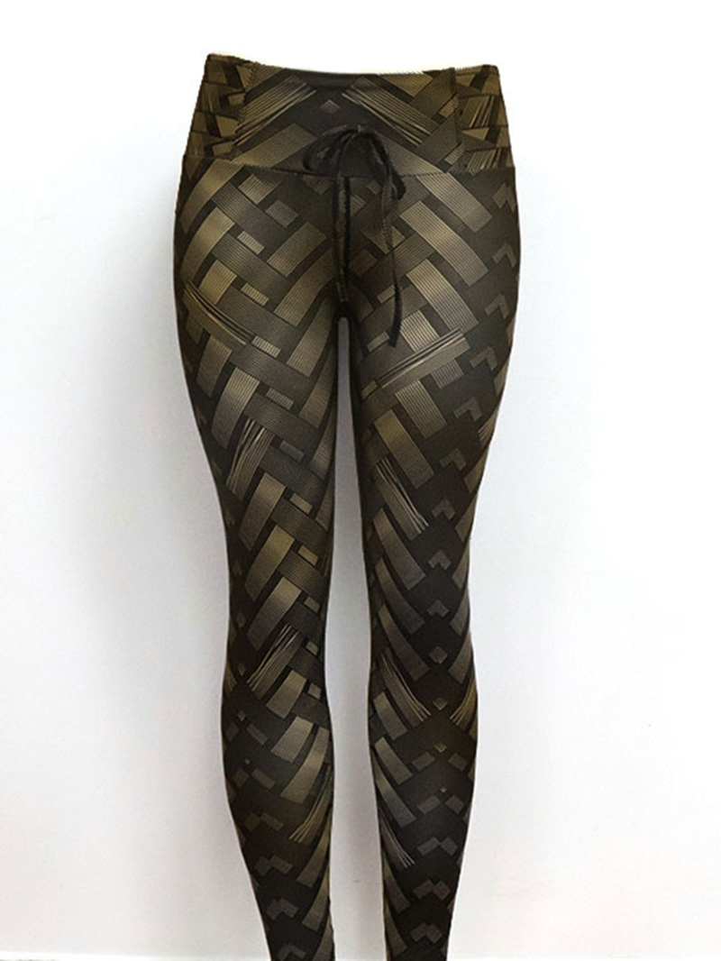 Ericdress Solid Weave Print Womens Yoga Pants