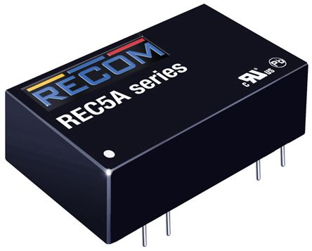 Recom REC5A 5W Isolated DC-DC Converter Through Hole, Voltage in 4.5 → 9 V dc, Voltage out 5V dc