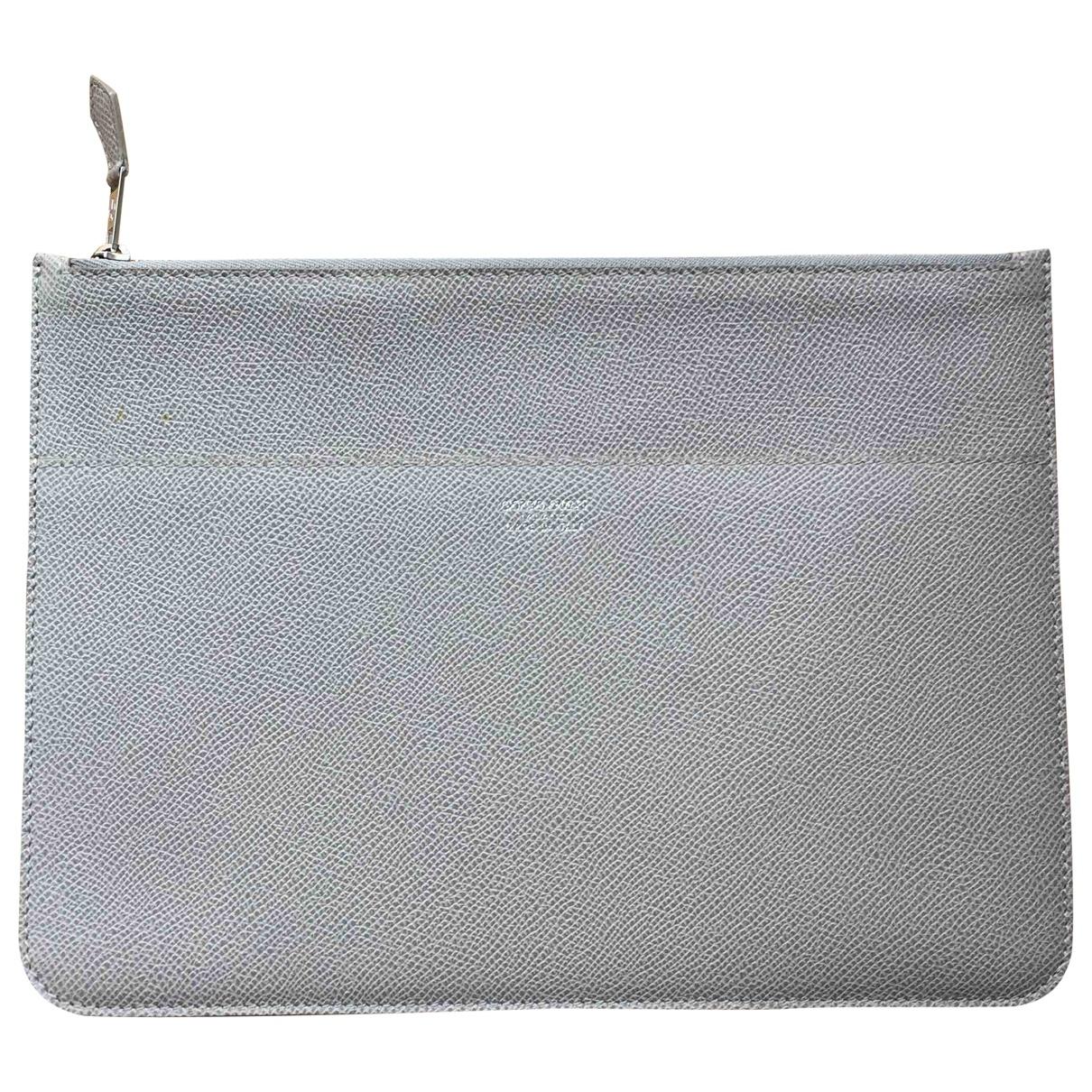 Giorgio Armani - Pochette   pour femme en cuir - gris