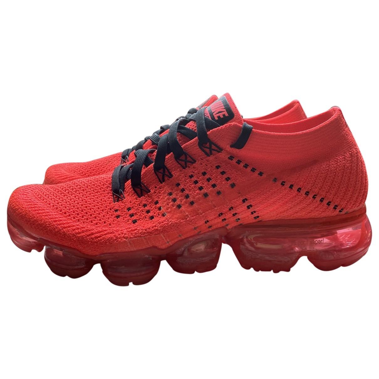 Nike Air VaporMax Red Cloth Trainers for Women 39 EU