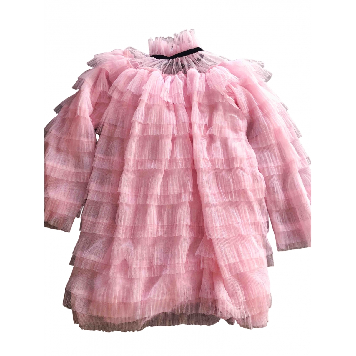 Non Signé / Unsigned Oversize Pink dress for Women S International