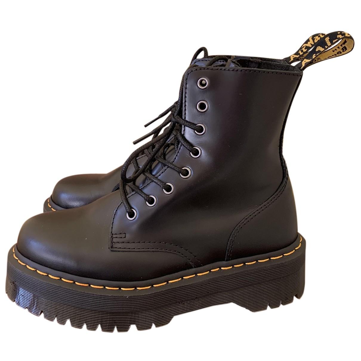 Dr. Martens - Boots Jadon pour femme en cuir - noir