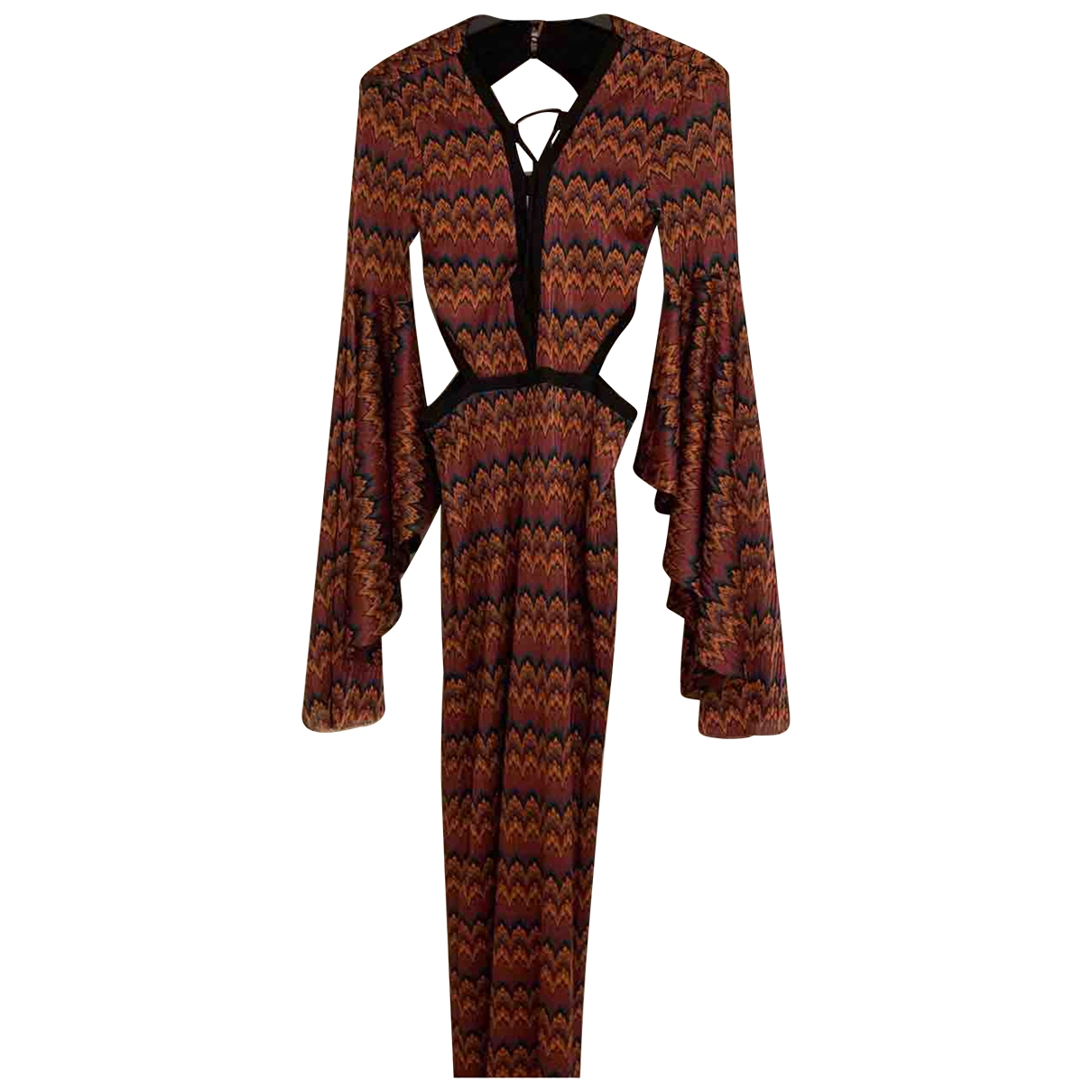 Non Signé / Unsigned Hippie Chic Multicolour dress for Women 36 FR