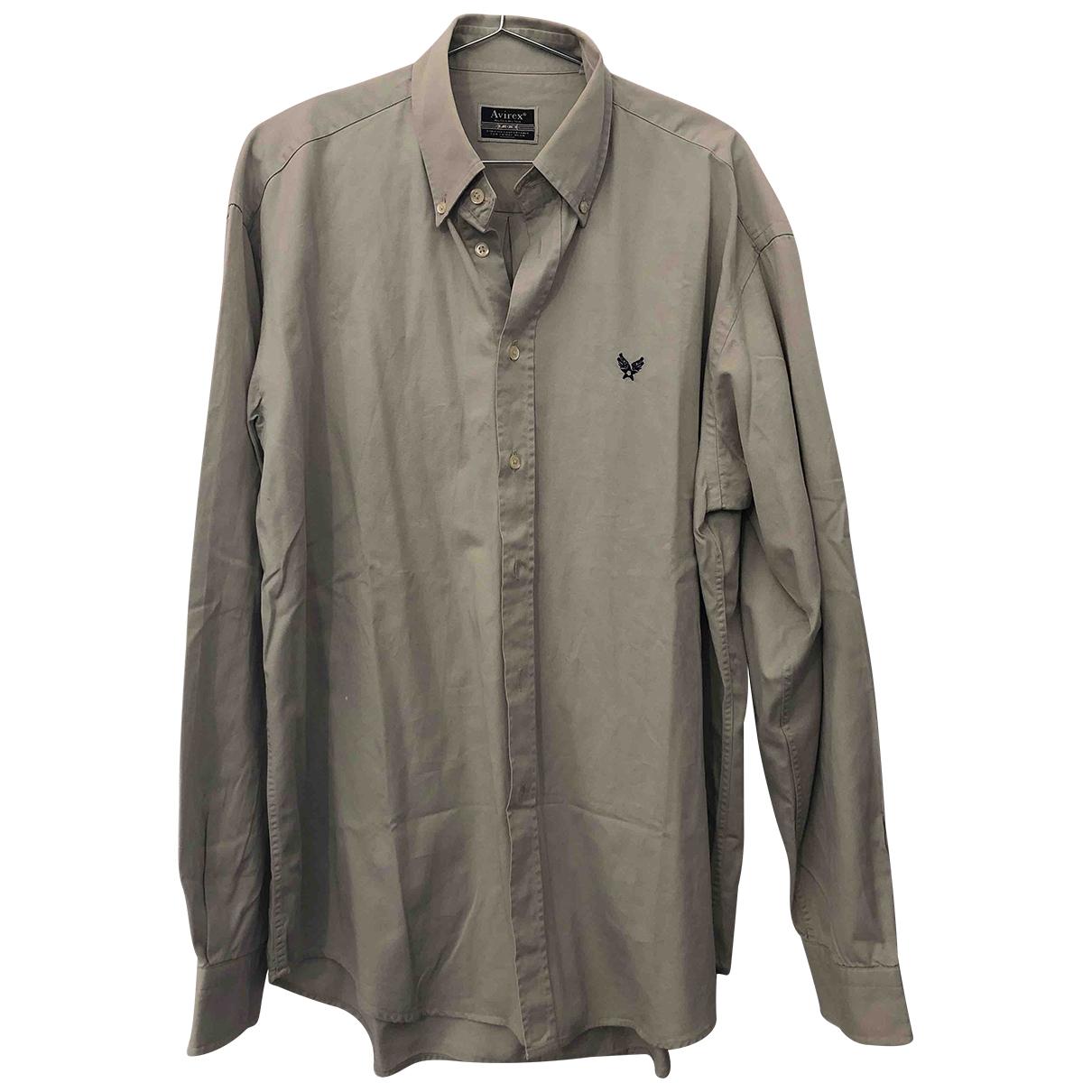 Avirex - Chemises   pour homme en coton - vert