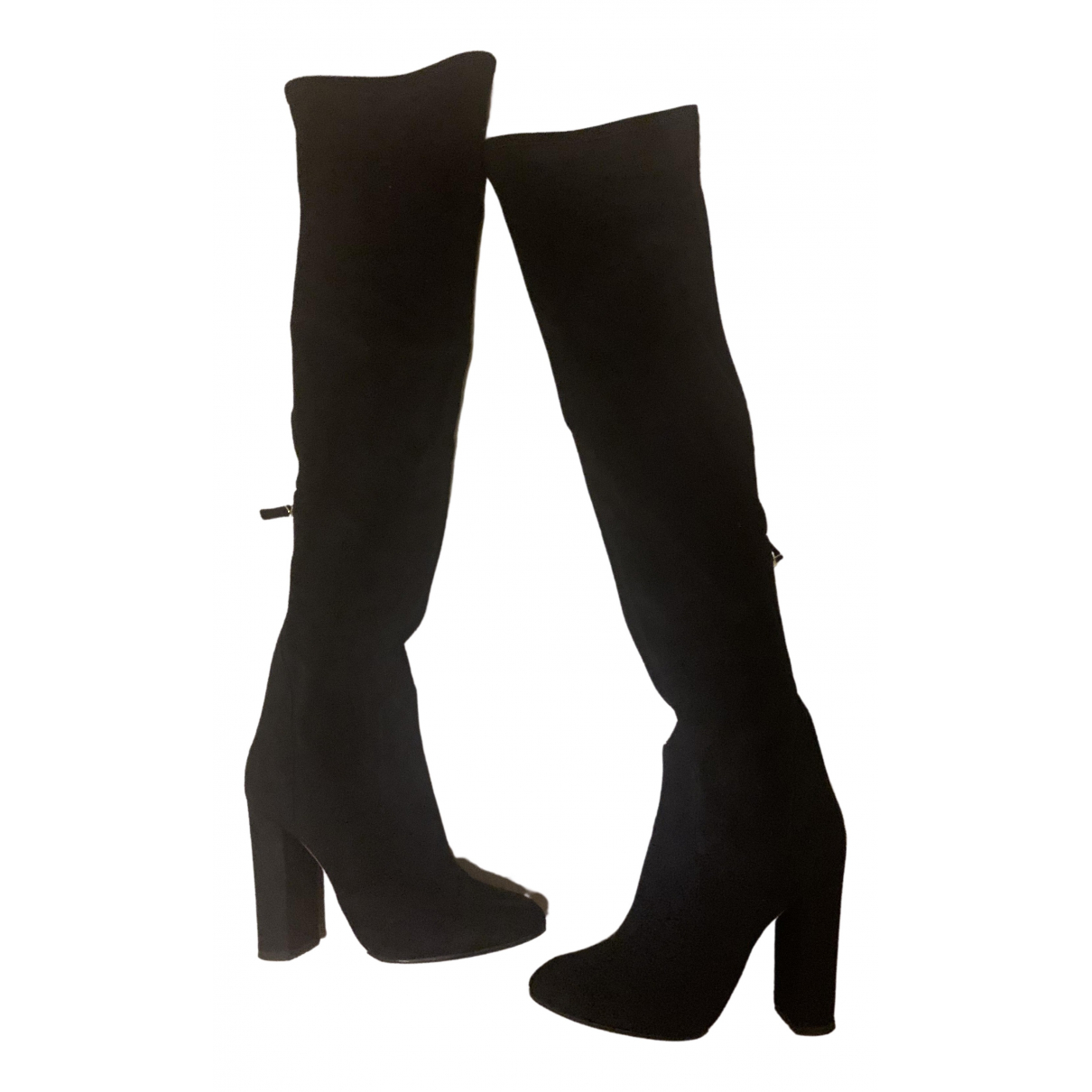 Aquazzura \N Black Velvet Boots for Women 39 EU