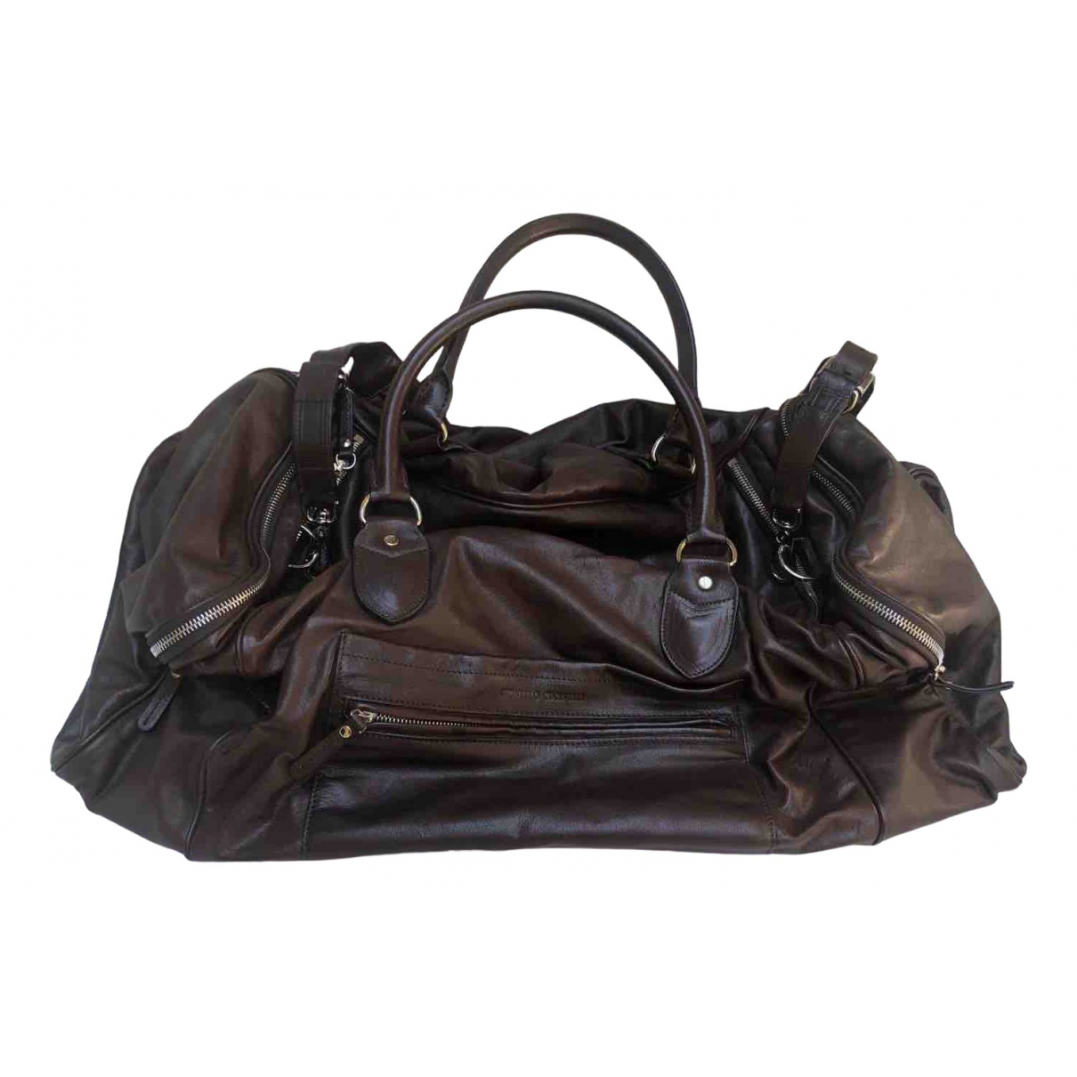 Brunello Cucinelli \N Brown Leather bag for Men \N