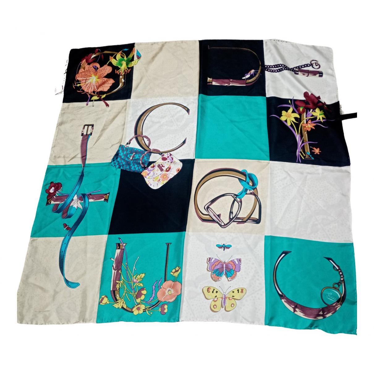 Gucci - Carre   pour femme en coton - multicolore