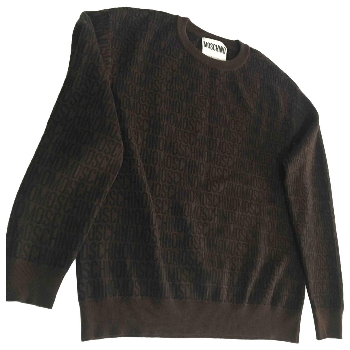 Moschino \N Brown Wool Knitwear & Sweatshirts for Men 50 IT