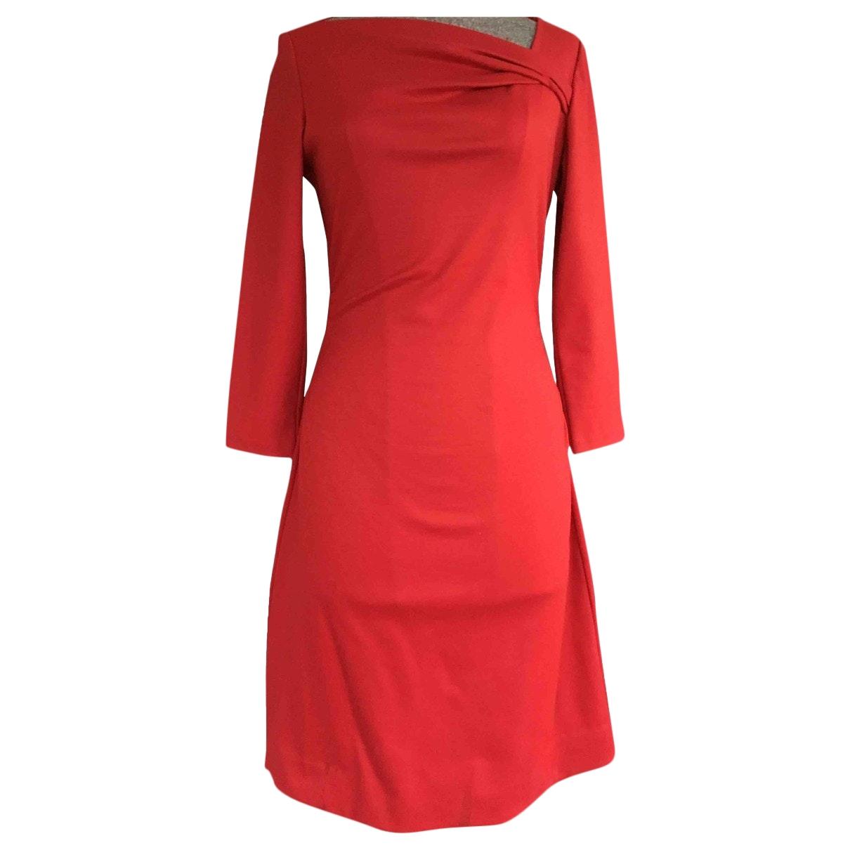 Diane Von Furstenberg - Robe   pour femme en laine - rouge