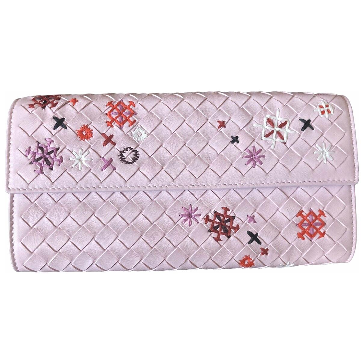 Bottega Veneta Intrecciato Pink Leather wallet for Women \N