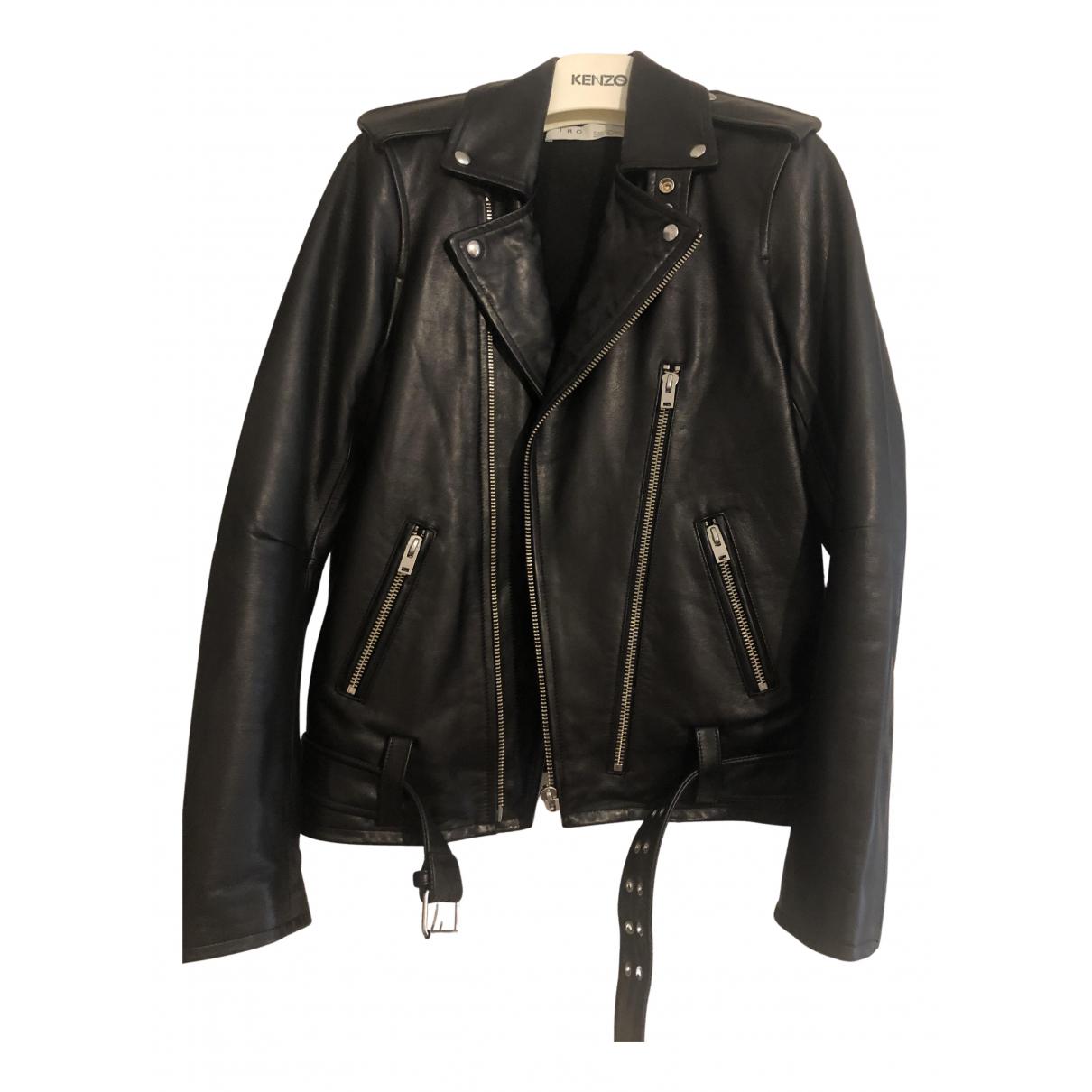 Iro Fall Winter 2019 Black Leather jacket  for Men 44 FR