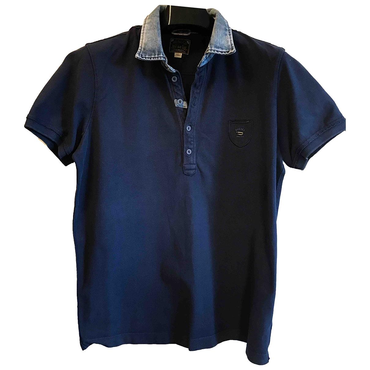 Diesel - Polos   pour homme en coton - bleu