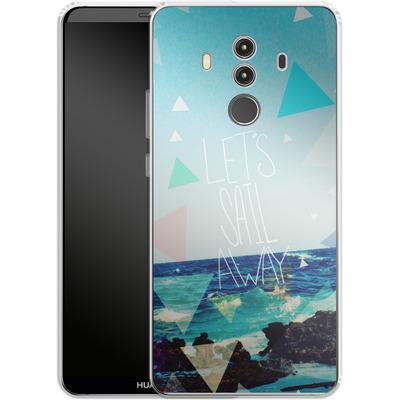 Huawei Mate 10 Pro Silikon Handyhuelle - Lets Sail Away von Leah Flores