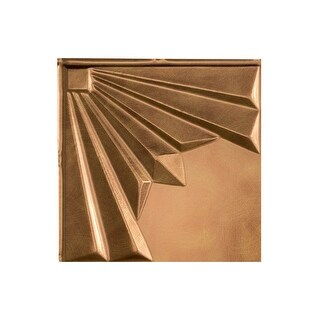 Fasade Art Deco Decorative Vinyl 2ft x 4ft Glue Up Ceiling Tile in Antique Bronze (5 Pack) (12x12 Inch Sample)