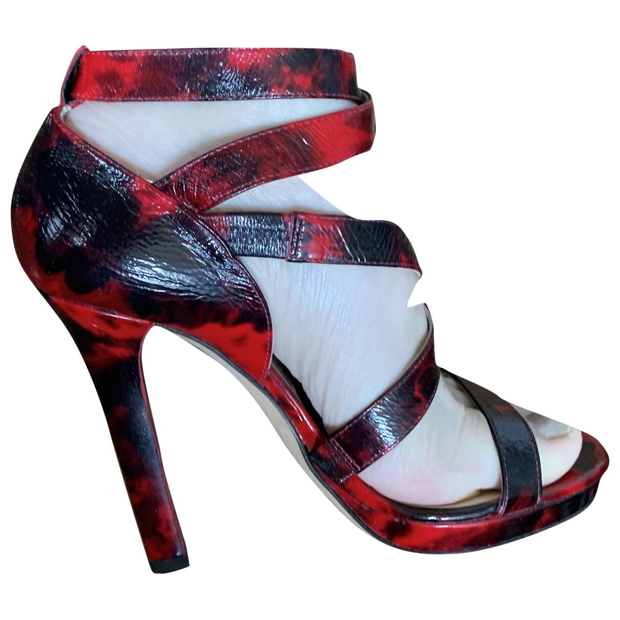 Jimmy Choo - Sandales   pour femme en cuir - rouge