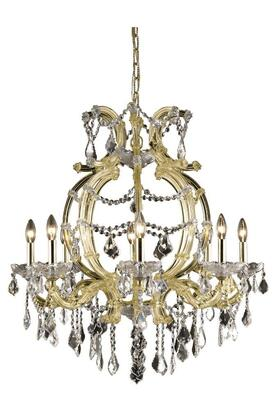 2800D28G/RC 2800 Maria Theresa Collection Hanging Fixture W28.5in H32.5in Lt: 8 Gold Finish (Royal Cut