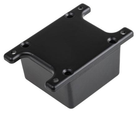 RS PRO Black Die Cast Aluminium Alloy Enclosure, Flanged, 50.8 x 50.8 x 31.8mm