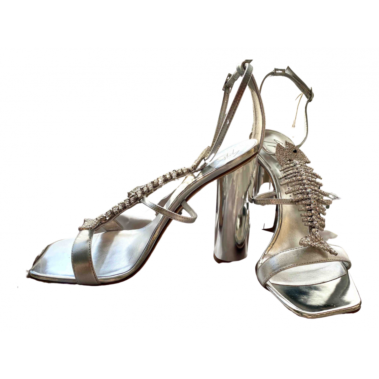 Giuseppe Zanotti \N Silver Leather Sandals for Women 37 EU