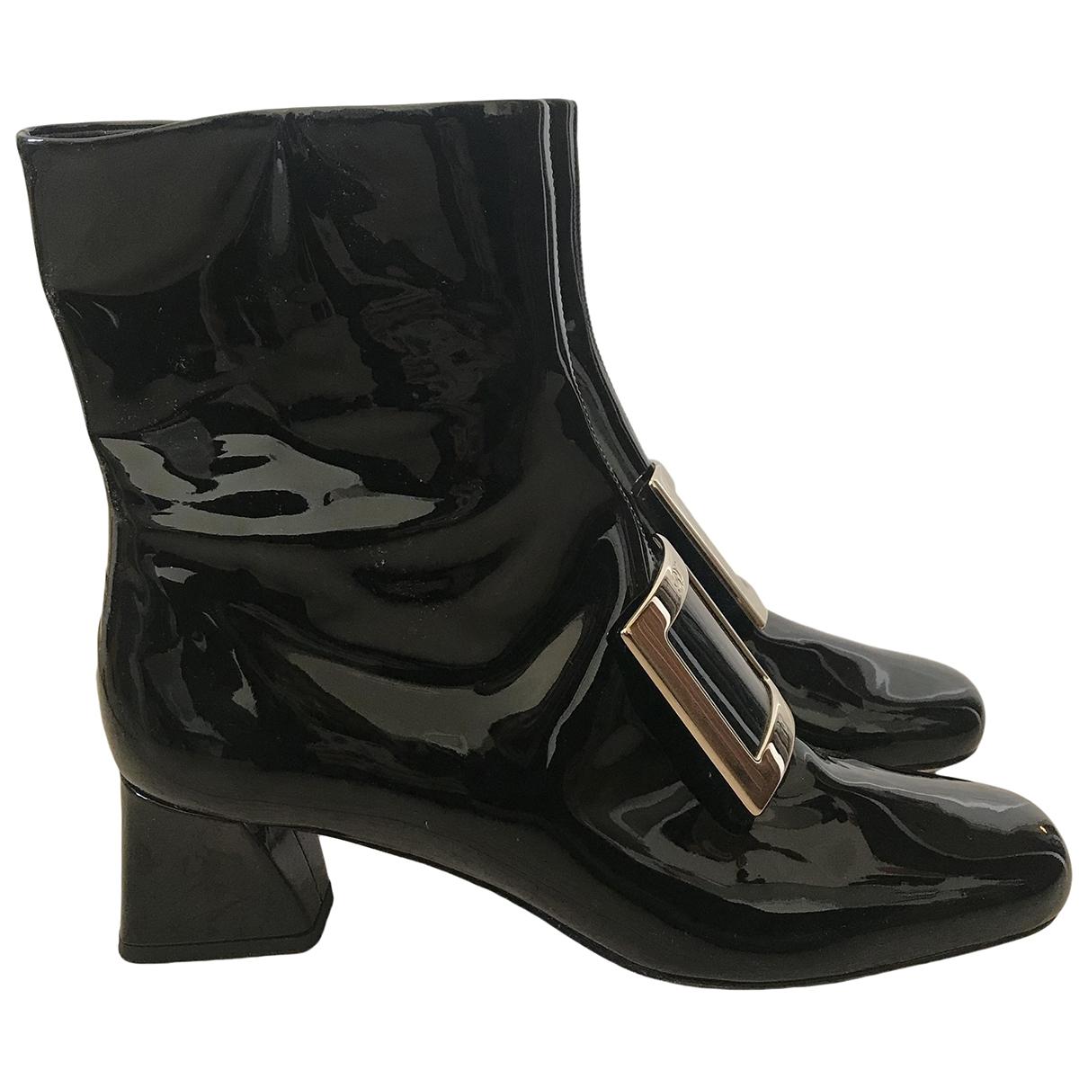 Roger Vivier - Boots   pour femme en cuir verni - noir