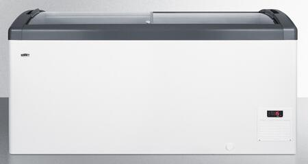 FOCUS151 Top Display Commercial Freezer with 14.8 cu. ft. Capacity  Digital Thermostat  Sliding Glass Lid  Manual Defrost  Casters  Hammered Aluminum