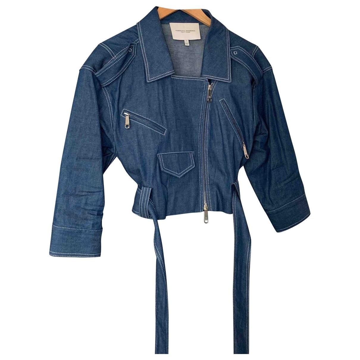 Carolina Herrera \N Blue Denim - Jeans jacket for Women 4 US