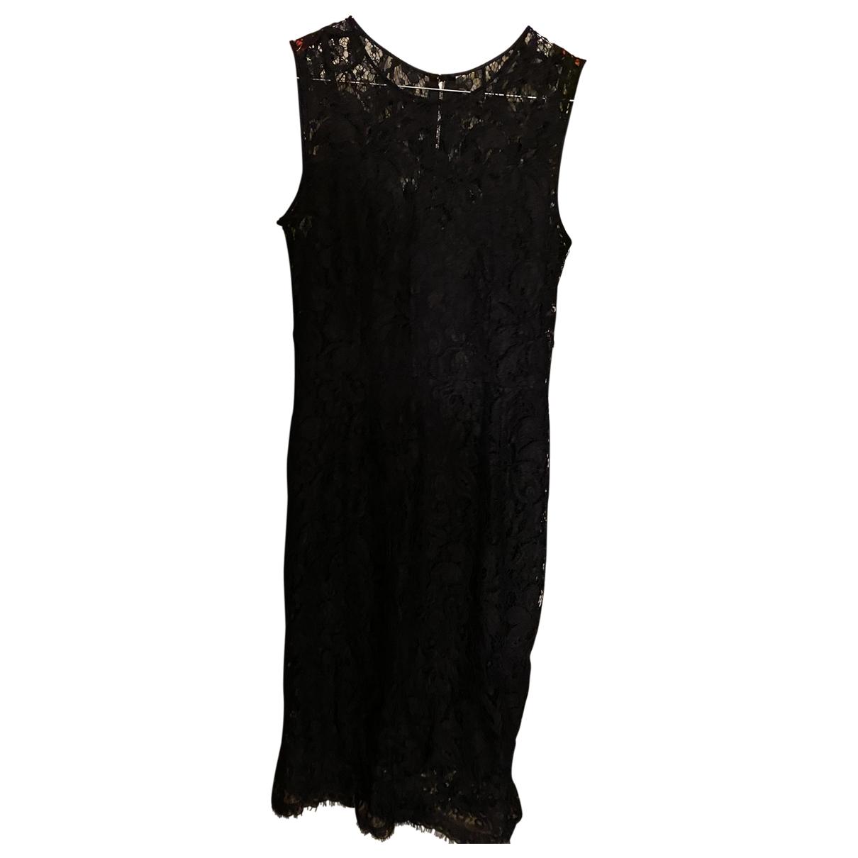 Dolce & Gabbana \N Kleid in  Schwarz Spitze