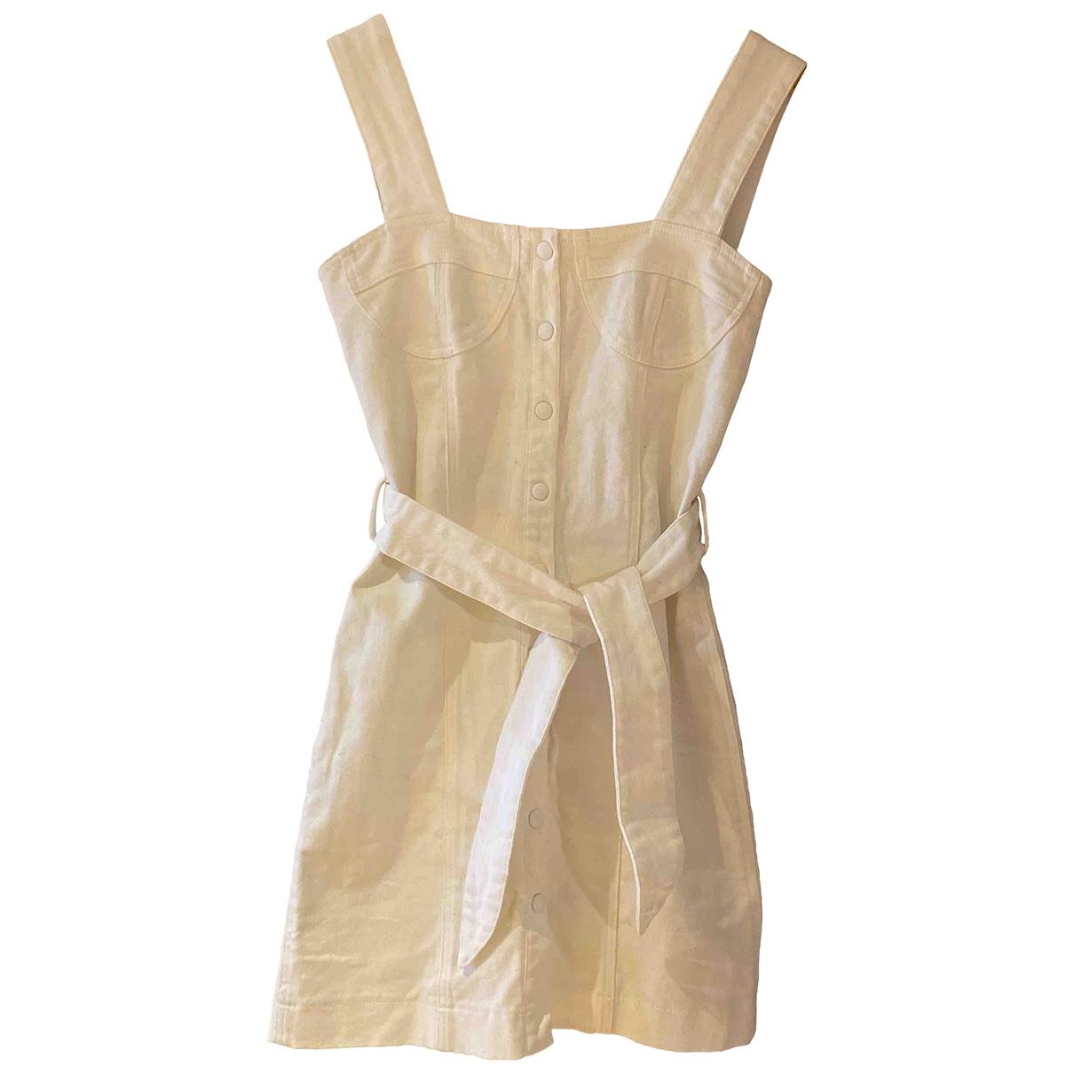 Nanushka \N Kleid in  Weiss Baumwolle - Elasthan