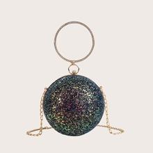 Tasche mit Glitzer und rundem Ball Design