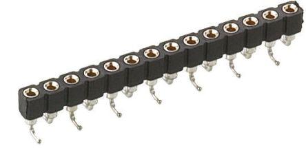 Preci-Dip 6 Way  Straight SMT 2.54mm SIL Socket, Solder, 3A 100 V ac, 150 V dc (5)
