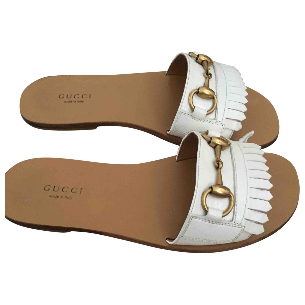 Gucci \N Sandalen in  Weiss Leder