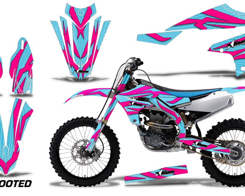AMR Racing Dirt Bike Decal Graphics Kit MX Sticker Wrap For Yamaha YZ450F 2018+áZOOTED PINK MINT