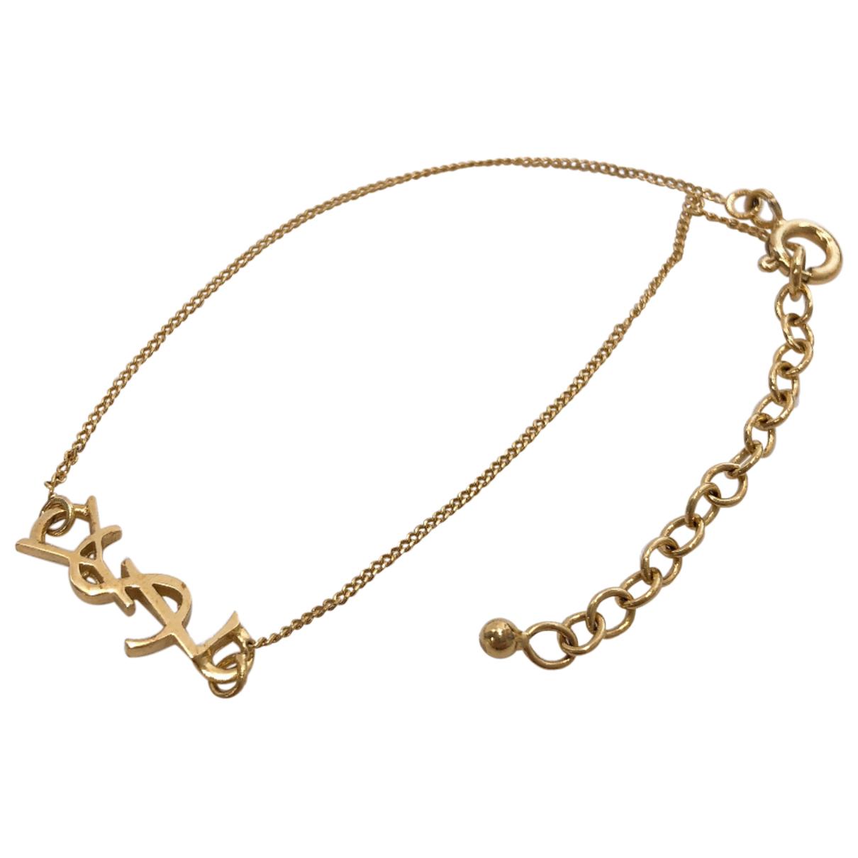 Saint Laurent - Bracelet   pour femme en metal - dore