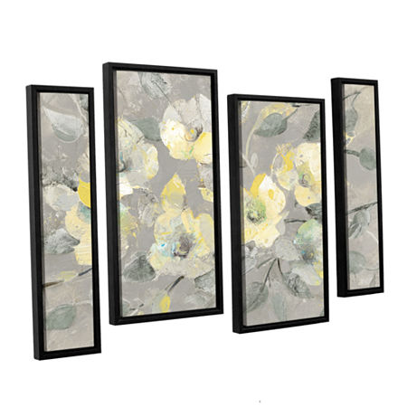 Brushstone Fading Spring Gray 4-pc. Floater Framed Staggered Canvas Wall Art, One Size , Multiple Colors