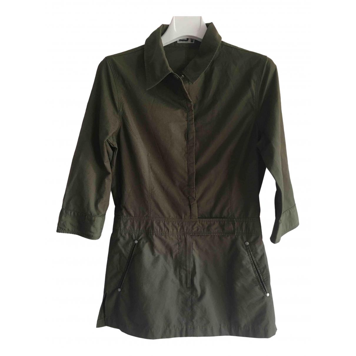 Adolfo Dominguez \N Khaki Cotton - elasthane dress for Women 36 FR