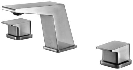 AB1471-BN Modern Widespread Bathroom Faucet with Brass  Valve  Double Knob Control  UPC Certified and Three Hole Widespread Deck Mount Installation