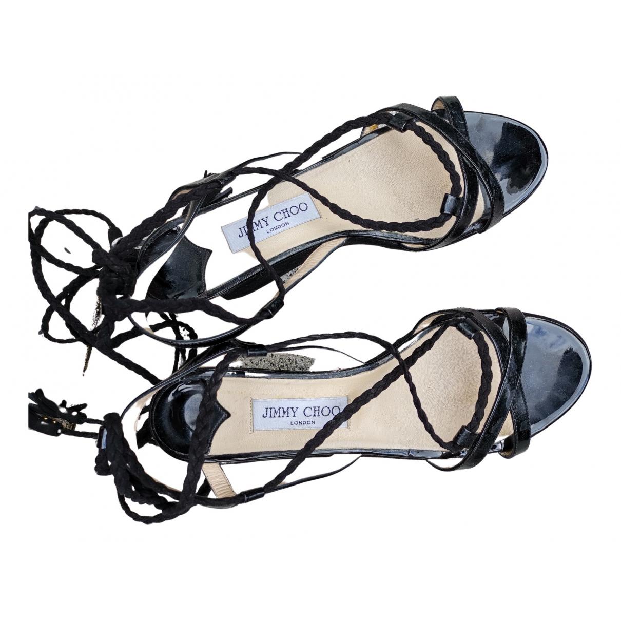 Jimmy Choo \N Black Leather Sandals for Women 40 EU