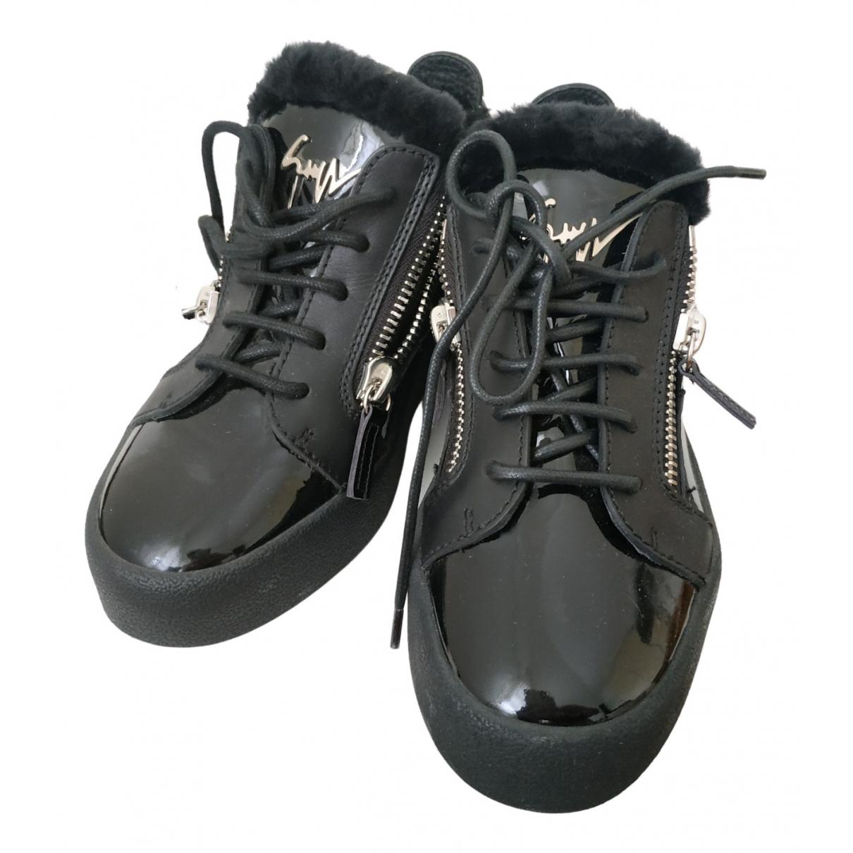 Giuseppe Zanotti - Baskets   pour femme en cuir verni - noir