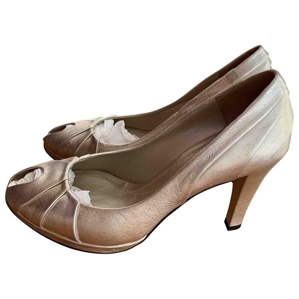 Furla - Escarpins   pour femme en cuir - metallise